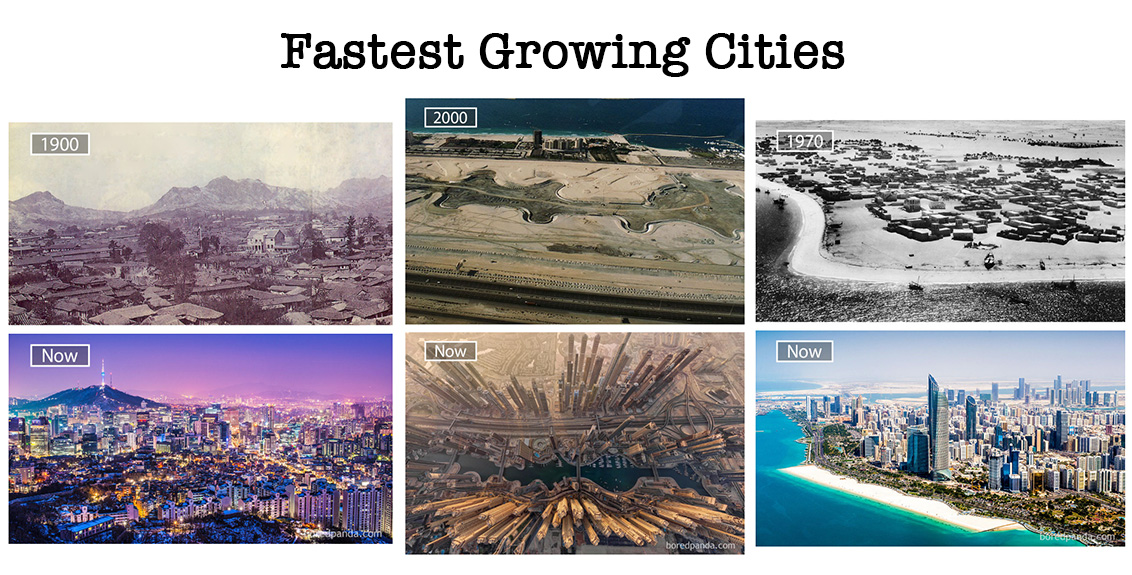 Top 10 fastest growing cities in the world