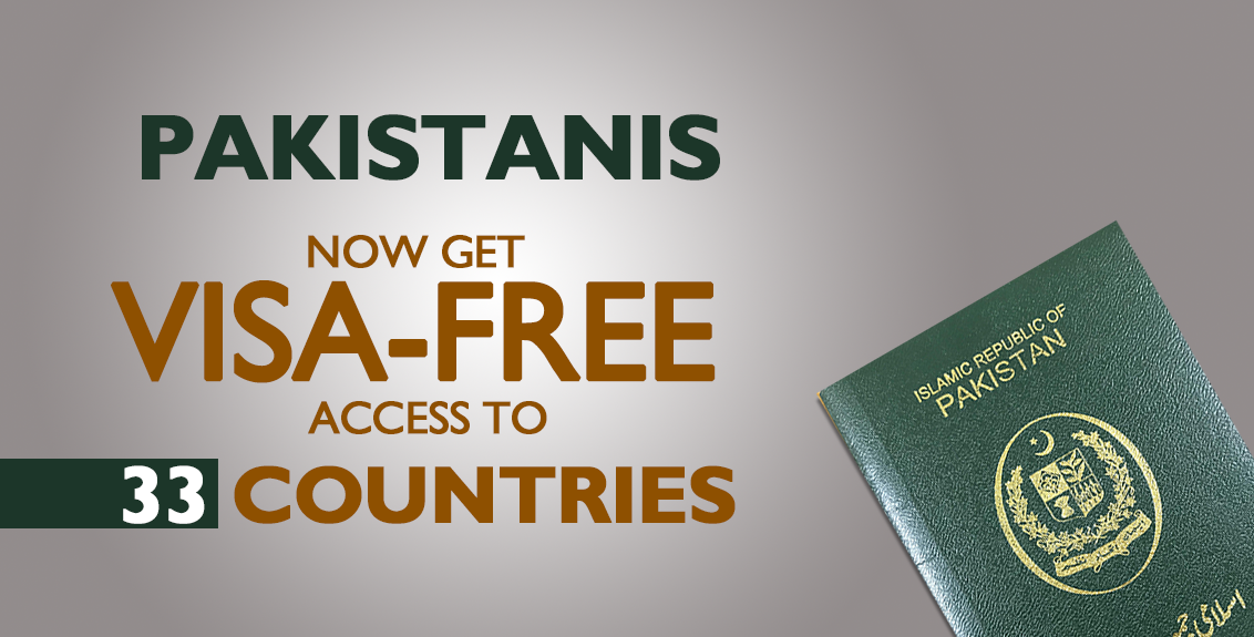 Pakistanis now get visa-free access to 33 countries